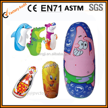 Promotional plastic pvc inflatable tumbler toy