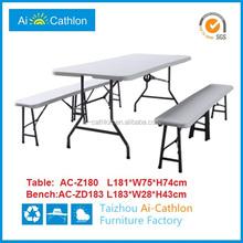 6ft plastic foldable table ,foldable picnic table