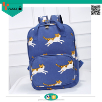 alibaba express new product garden wind trendy 2014 girl backpacks with kitty printing