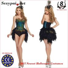 2015 new Halloween Costumes Deluxe Sultry Peacock Costume