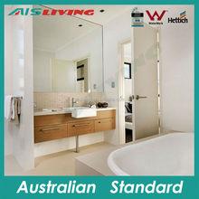 AISV-151 bathroom vanity in bedroom, 3 drawer wood bath base cabinet, single square watermark sink