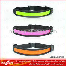 new products 2015 outdoor sport elastic waistband safety belt with led flashing light