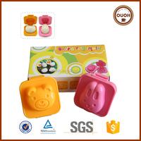 Food Grade Plastic Cartoon Bear and Rabbit Boiled Egg Mould