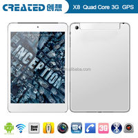 X8 cheapest MTK8389 tablet pc 7.85 inch quad core android 4.2 3g gps bluetooth phone call/FM/dual camera/dual sim card slot