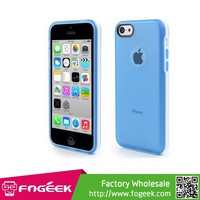 For iPhone 5c Matte TPU Shield Cover with Detachable Plastic Frame Case