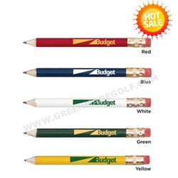 New arrival round wooden golf pencils with eraser,jumbo round pencils