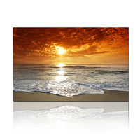 Inkjet Sunset Canvas Printing/Natural Canvas Art Printing/Beautiful Scenery Oil Painting On Canvas