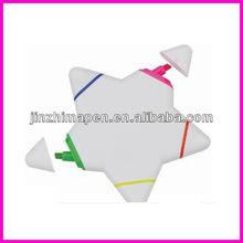 multicolor highlighter pen /star highlighter pen