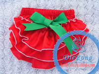 satin bloomers Christmas baby bloomers 2015 baby lace underwear