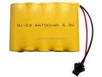 NI-CD AA 700mah 6V Rechargeable Battery Pack