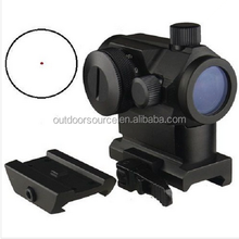 Mini T-1 Telescopic Sight Illuminated Red Green Dot Sight good holographic sight Quick Release Scope Mount Hunting promotion