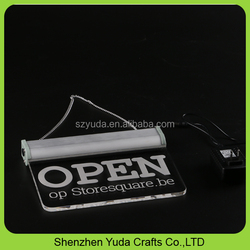 high transparent bar led sign power supply luxury hanging logo signs acrylic hanging sign board