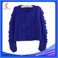 Cable-Knit Sweater Oem Custom, Cashmere Second Hand Woven Sweaters Suppliers In India