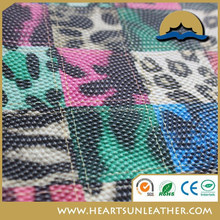 THE newest design animal skin leather PVC Leopard Dot Skin Leather Model T5049