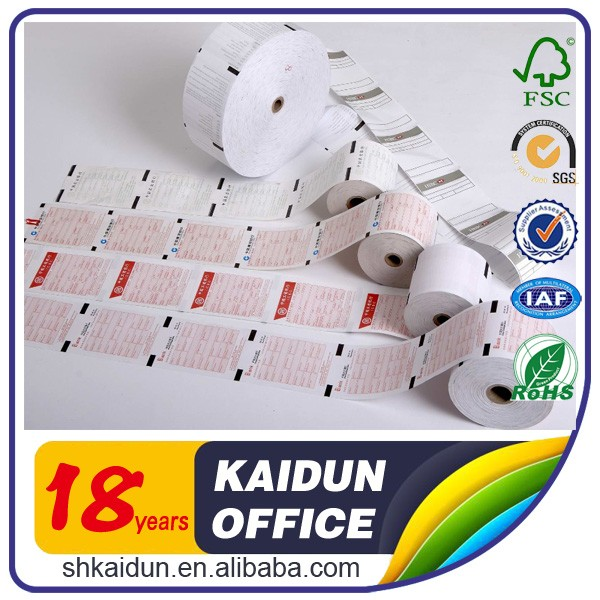 Best-seller caixa térmica registo rolo de papel recibo do banco de papel para máquina ATM