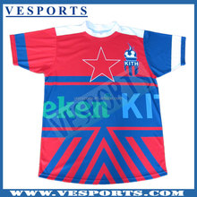 100% Polyester Sublimation Printing Youth Soccer Team Custom Football Jerseys