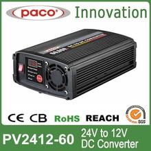 Digital dual output dc dc converter 24vdc to 12vdc 60Amp