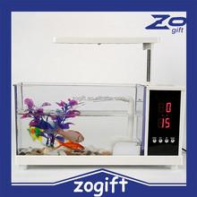 ZOGIFT Promotional Mini Fish Tank Usb Aquarium with USB speaker Bluetooth