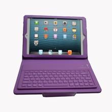 Factory Price PU case bluetooth keyboard for ipad mini leather case