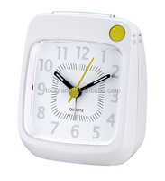 Cute design Desktop white alarm Clock with Crescendo Beep sound