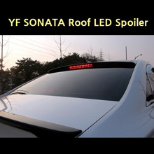 Roof LED Glass Wing Spoiler PAINTED for Hyundai YF SONATA 11+