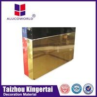 China Supplier Antibacterial Mirror Aluminium Composite Panel(Acp) For surabaya Wall Cladding aluminium composite panel
