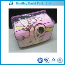 best selling products costomized plastic packaging 200*240cm pink transparent bag manufacturer
