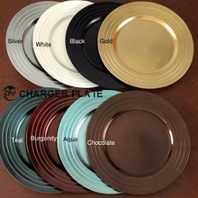Plastic charger banquet events party wedding wholesale decor plates