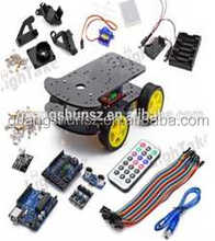Multi-Functional 4WD Robot Car Chassis Kits UNO R3 170 point Mini breadboard For Robot Car Assembly Kit toy