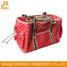 European Standard Beautiful red pet carrier dog bag