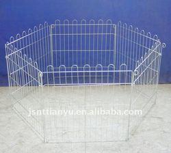 6 pcs metal rabbit play kennel