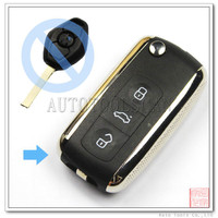 Universal car key for BMW Silver Modified Flip remote key 3 button frequency 315mhz [AK006023]