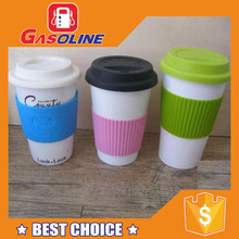 Unique design customized hard plastic cup with lid and straw