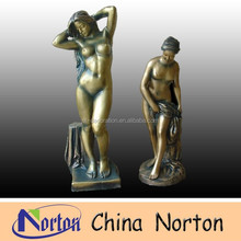 China imitation colored resin sexy nude woman statue NTRS082S