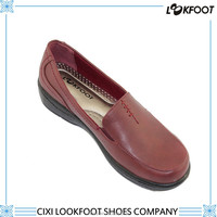 Comfort lady hot sale pu leather new arrival casual shoes