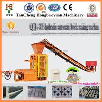 New technology QTJ4-30B interlock block making machinery / concrete blocks mahcine / block making machine for sale