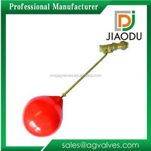 forged male thread brass water tank float ball valve with plastic ball