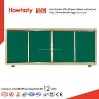 sliding vertical dry Erase classroom green white board