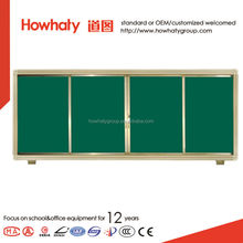 sliding vertical dry Erase classroom green white board