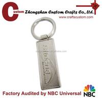 Engraved blank metal keyring
