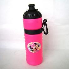 Cartoon plastic school bottle with hand strap BPA free