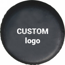 """OEM Brand 27"""" 28"""" 29"""" 30"""" 31"""" inches Black PU Leather Neutral Custom Spare Wheel Tire Cover"""