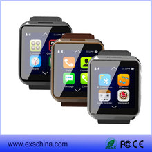 hebrew smart watch mobile 2015 bluetooth watch phone with pedometer/calories/heart rate monitor/wifi