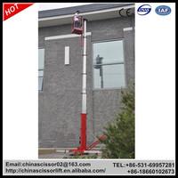 Genie personnel lifts, hydraulic aluminum single mast Aeriallifts