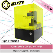 Omaker SLA usb 3d printer for jewelry and digital phone case