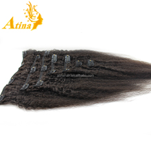 Long Lasting China Hairpieces Kinky Yaki Straight Clip In Hair Extensions Affordable Eurasian Clip In Human Hair Extensions