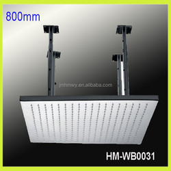 "No led light big size 31"" brushed/miroor face stainless steel shower head for bath"