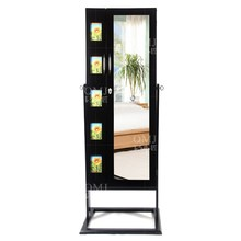 Cheval Jewelry Mirror Armoire Antique Mirrored Furniture 2 Doors