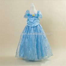 Cinderella flower girl dresses with embroidered butterfly