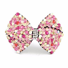 Fashion hair bow swarovski crystal hair clip for women